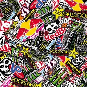 laptop design folie sticker bombing sticker bomb energy redbull rockstar