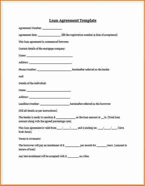 contract    car payments template simple