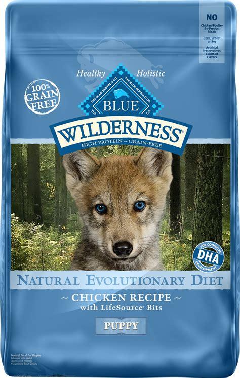 blue buffalo wilderness puppy chicken recipe grain