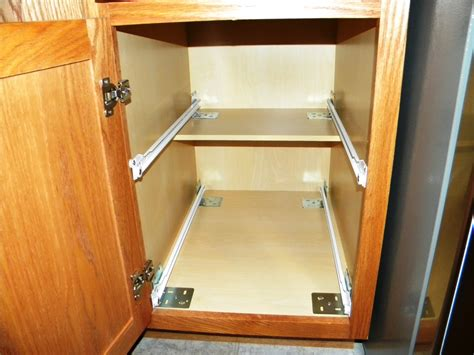 how to install sliding shelves in kitchen cabinets measuring for kitchen cabinet pull out shelves 9777