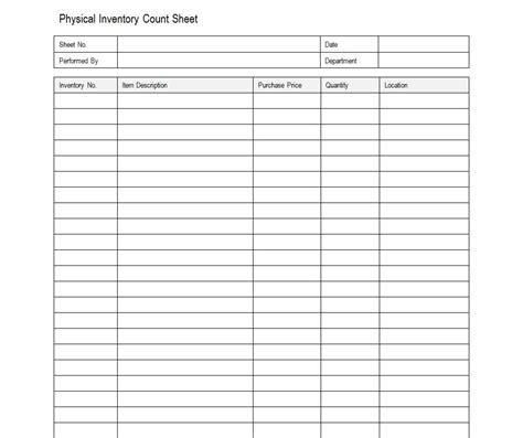 sample inventory sheet sample inventory sheets