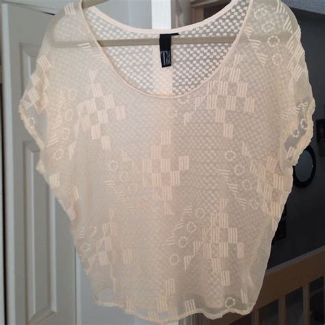 Gorgeous Sheer 100 Silk Blouse Cream Colored Silk Blouse