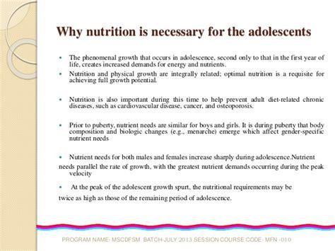 nutrition  adolescents