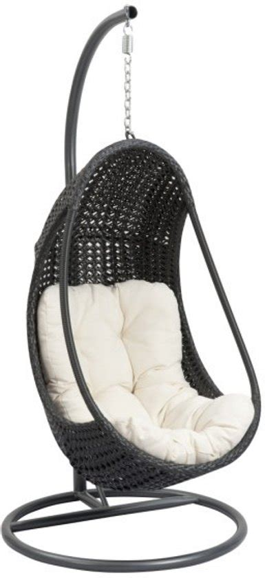 hang lounge stoel bol hangstoel egg chair relax zwart