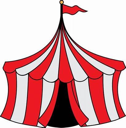 Clipart Circus Clip Tent Carnival Cartoon Christmas