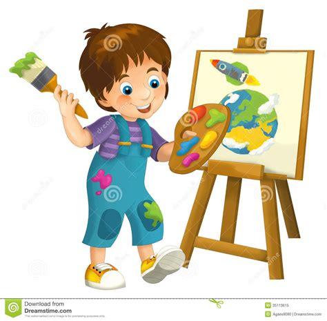cartoons illustrations kids  stock photo