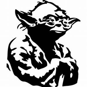 Sticker Star Wars 106 Yoda - 57x67 cm - Achat / Vente ...