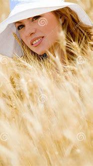 Golden beauty stock image. Image of model, human ...