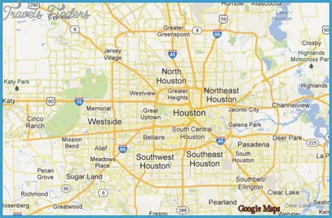 houston map travelsfinderscom