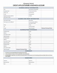 business credit application office templates With commercial credit application template