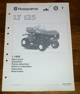 Husqvarna Lt125 Riding Mower Parts Manual