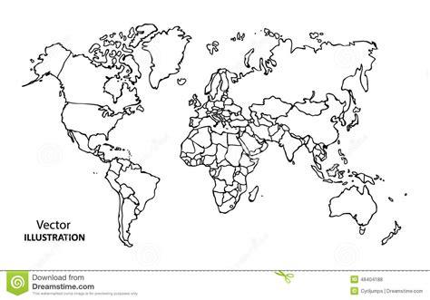 Dessin Carte Du Monde A Imprimer by Carte Du Monde De Dessin De Avec Des Pays