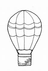 Balloon Air Coloring Pages Basket Decorated Template Outline Colouring Printable Sky Getdrawings Templates sketch template