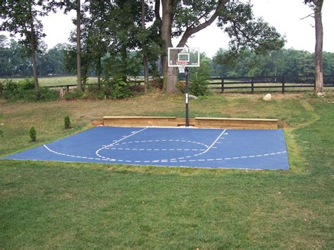 Small Backyard Basketball Court Dimensions — Design