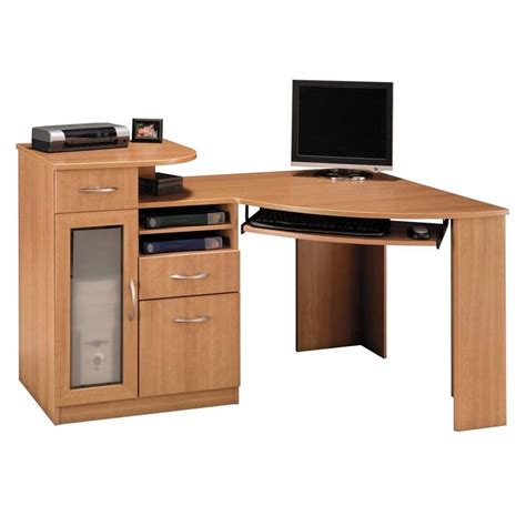 light wood corner desk bush vantage collection corner desk light dragonwood