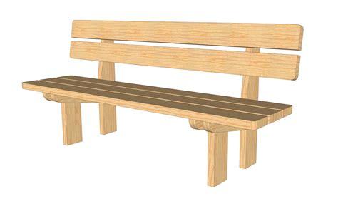 plan banc bois plans pour fabrication d un banc en bois massif