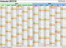 Halbjahreskalender 20172018 als PDFVorlagen zum Ausdrucken
