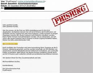 Postfinance E Finance : phishing mail zur verifizierung von postfinance ~ Watch28wear.com Haus und Dekorationen