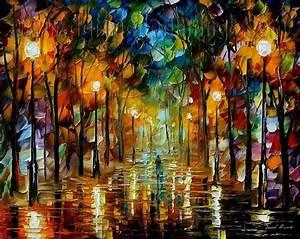 Modern impressionism palette knife oil painting kp103 ...