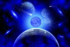 Blue Space.1. Digital Art by Mark Stevenson