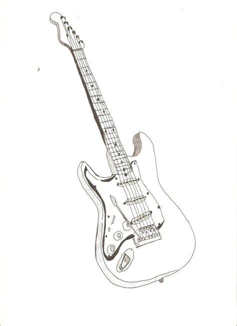 big guitar outline drawing   clip art  clip art  clipart library