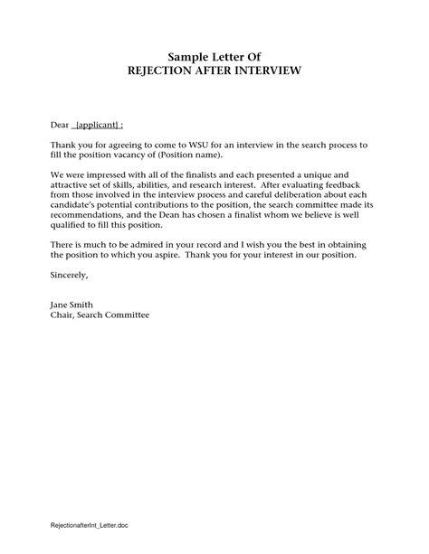 rejection letter resume on file rejection letter after crna cover letter