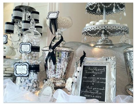 black and white candy table elegant black and white candy table black and white