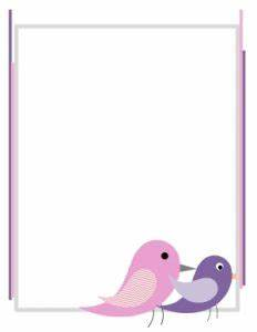 Online Printable Graph Paper Free Printable Bird Border Customize Online Then Download