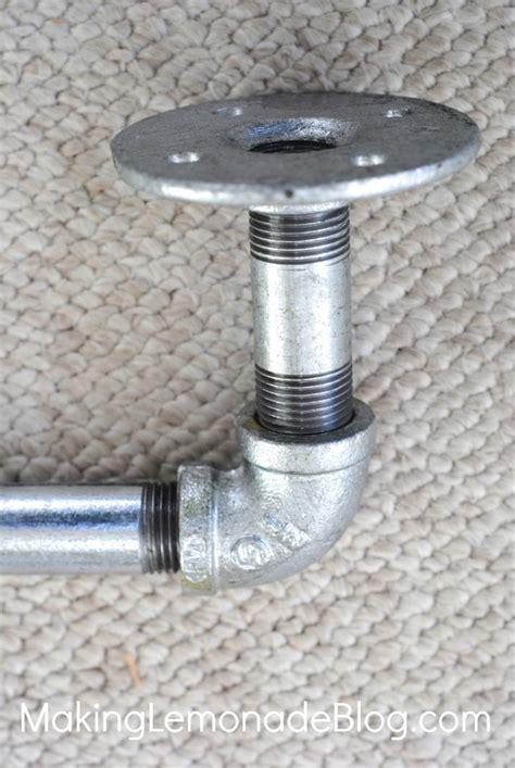 diy pipe curtain rod diy industrial pipe curtain rods boys room update
