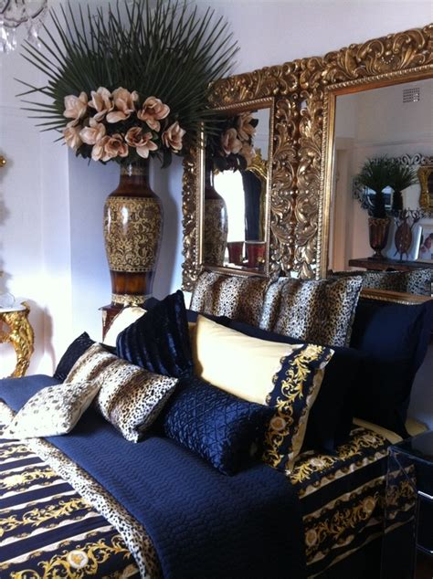 Bedroom Decor Blue And Gold by Navy Blue Gold White Bedroom For The Home In 2019