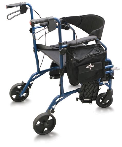 rollator walker transport chair combo walkers rollators and mobility aids justwalkers