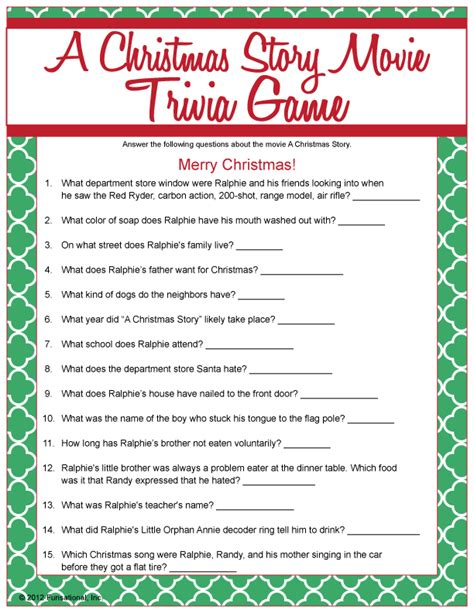 the night before christmas movie trivia a story trivia print story