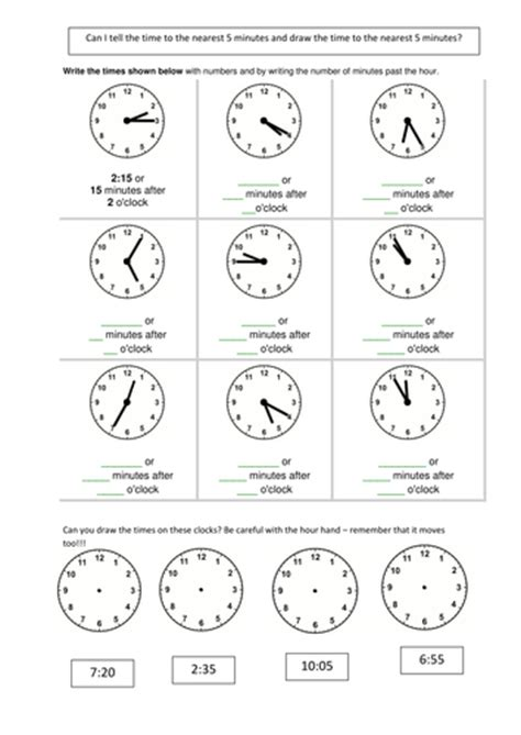telling the time 5 mins by smiley scribe teaching