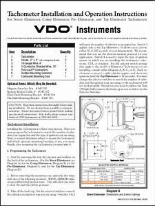 Vdo Diesel Tachometer Wiring