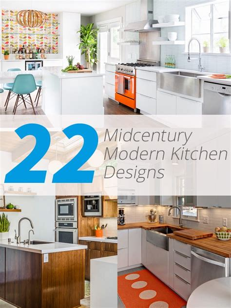 mid century kitchen design 22 midcentury modern kitchen designs showcasing contrast 7493