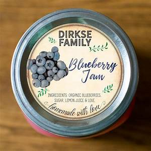 custom blueberry jam labels labels for blueberry jelly With custom jam labels