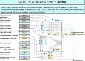 Calcul Escalier Quart Tournant : calcul d 39 un escalier demi tournant ~ Dailycaller-alerts.com Idées de Décoration