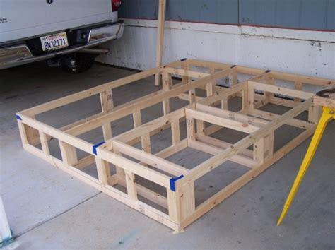 plans   platform bed  storage drawers woodworking sketch queen bed frame plans