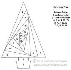 iris folding christmas treesgreenery images