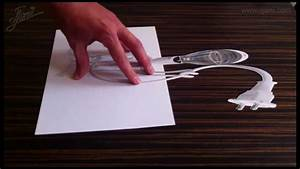 Amazing 3D illusions on paper - YouTube