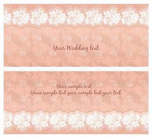 pink vintage wedding invitation with floral lace 18842 With vintage wedding invitation with lace free vector