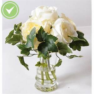 Rose Blanche Artificielle : fausse rose blanche maison et fleurs ~ Teatrodelosmanantiales.com Idées de Décoration