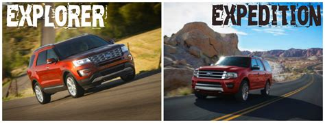 differences    ford explorer  expedition