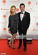 Actors Actor Yannick Bisson and wife Chantal Craig attend ...
