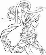 Princess Coloring Rapunzel Tangled sketch template