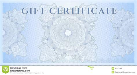 blue gift certificate voucher template pattern royalty
