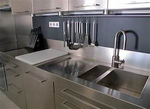 meuble de cuisine avec evier inox evier salle de bain With salle de bain design avec evier inox dekor