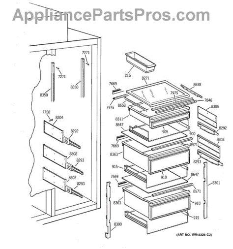 parts  ge zissncass fresh food section parts appliancepartsproscom