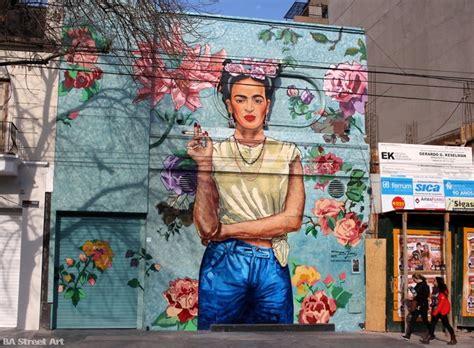 frida kahlo mural in buenos aires ba street art