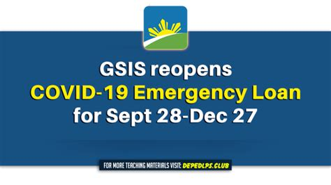 gsis reopens covid  emergency loan  sept  dec